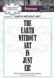 CE Rubber Stamp by Andy Skinner - Earth Without Art - CEASRS016